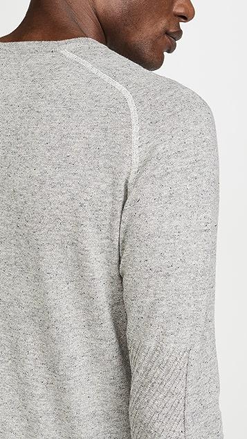 Billy Reid Contrast Stitch V Neck Sweater