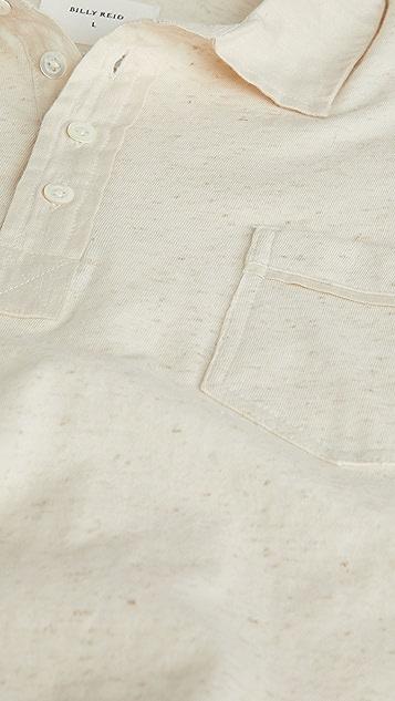 Billy Reid Cotton Linen Polo Shirt