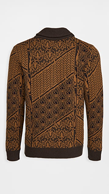 Billy Reid Wallpaper Jacquard Cardigan