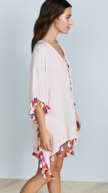 Bindya Double Tassel Lace Up Tunic