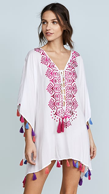 Bindya Provence Lace Up Tunic