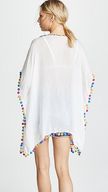 Bindya 绒球装饰开衫