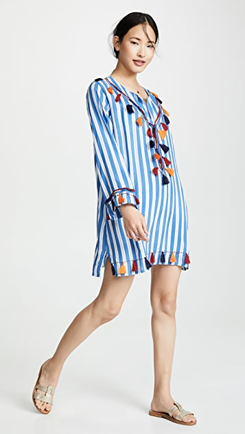 Bindya Striped Tunic With Tassels