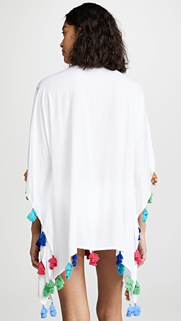 Bindya Lace Up Tunic with Triple Tassels