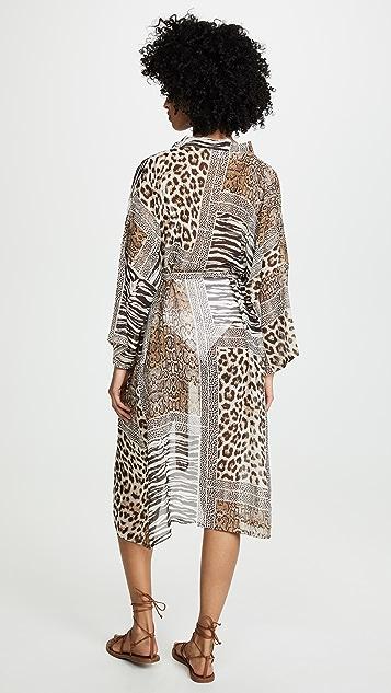 Bindya Leopard Kimono Coverup