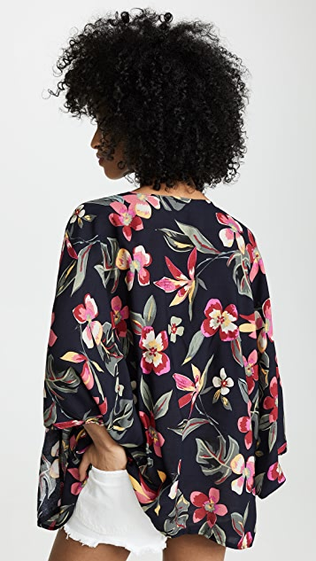 Bindya Tropical Kimono Cover Up