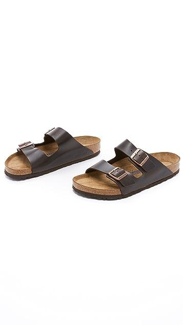 Birkenstock Soft Arizona Amalfi Leather Sandals