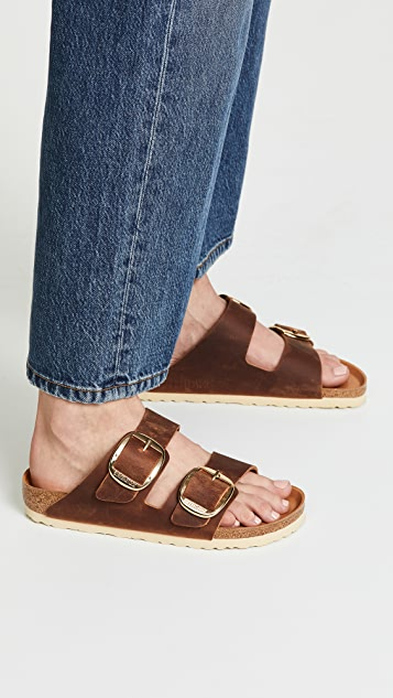 MENS BIRKENSTOCK ARIZONA Big Buckle Cut Out Fashion Oiled