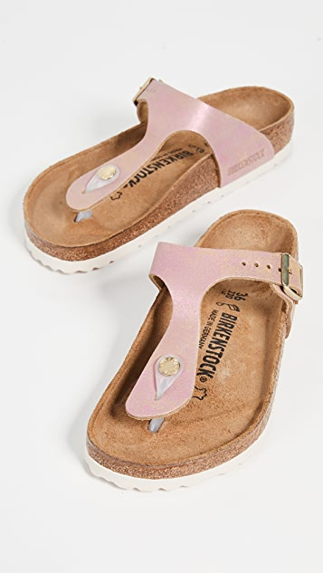 Birkenstock Gizeh Sandals - Washed Metallic Pink