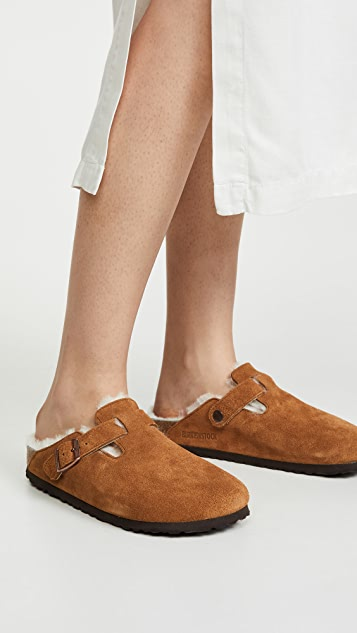 Birkenstock Boston Shearling Clogs-Narrow