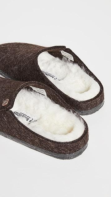 Birkenstock Zermatt 连毛羊皮平底鞋