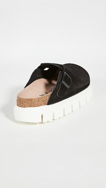 Birkenstock Boston Chunky Suede Sandals