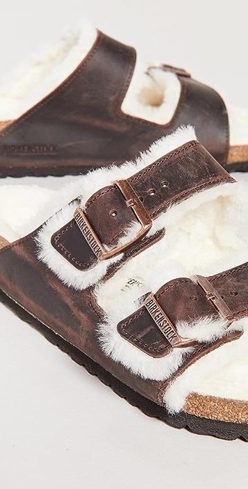Birkenstock Arizona Shearling Sandals