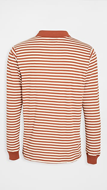 Banks Journal Long Sleeve Striped Omni Polo