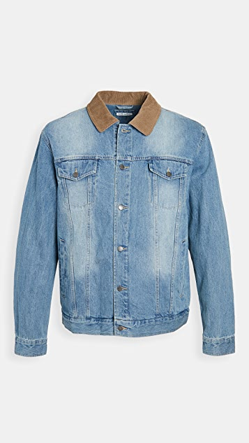 Banks Journal Denim Jacket with Corduroy Collar