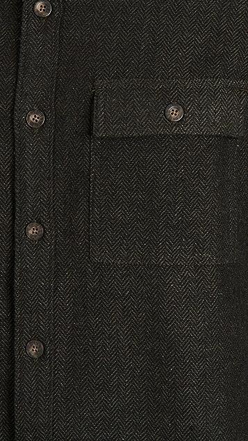 Banks Journal Brushed Herringbone Shirt Jacket