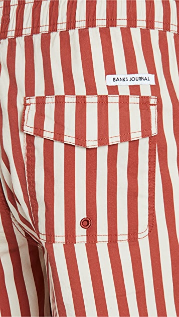 Banks Journal Preview Elastic Boardshorts