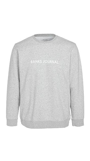 Banks Journal Long Sleeve Logo Graphic Sweatshirt