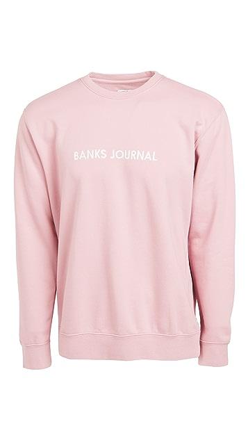 Banks Journal Label Crew Sweatshirt