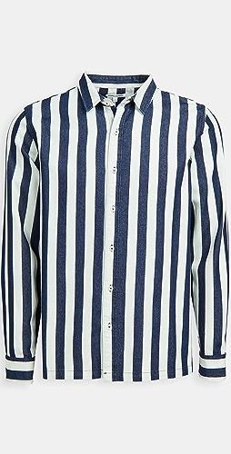 Banks Journal - Percussion Chambray Stripe Shirt