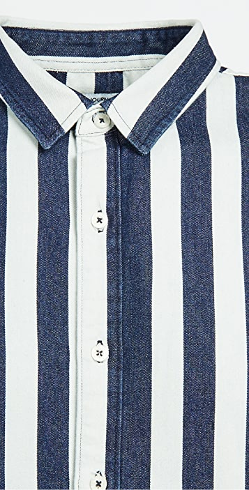 Banks Journal Percussion Chambray Stripe Shirt