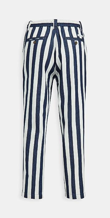Banks Journal Supply Chambray Stripe Pants