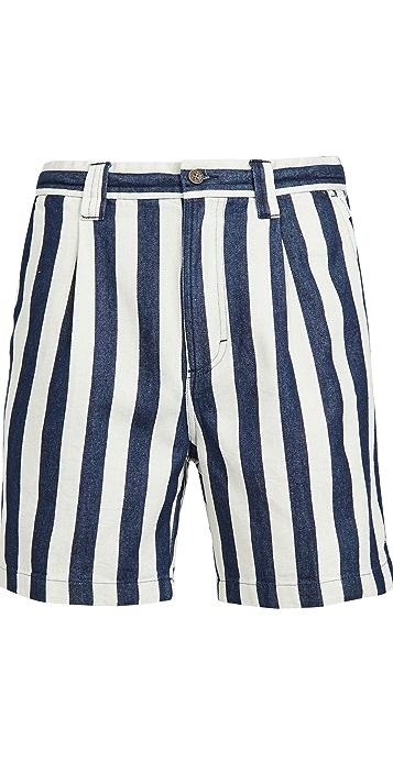 Banks Journal Supply Chambray Stripe Shorts