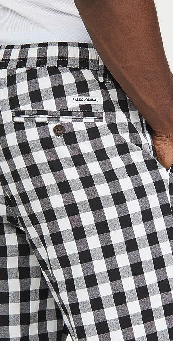 Banks Journal Supply Gingham Check Pants