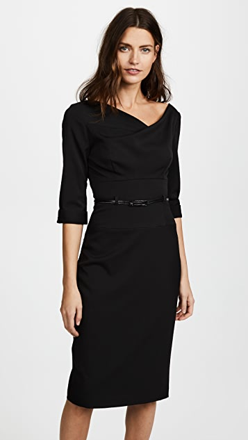 0d8546f0842 Black Halo 3 4 Sleeve Jackie O Dress ...