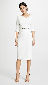 3/4 Sleeve Jackie O Dress