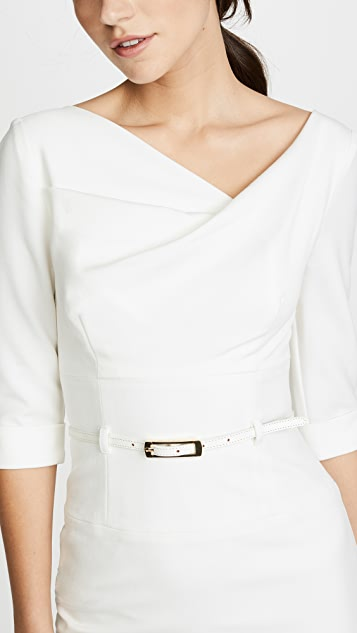 Black Halo Платье Jackie O с рукавами три четверти