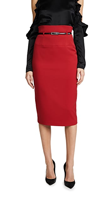 Black Halo High Waisted Pencil Skirt