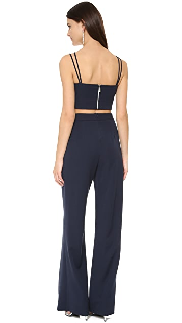 5653d4aa3d9d ... Black Halo Flynn Two Piece Jumpsuit ...