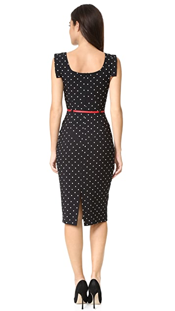 Black Halo Jackie O Polka Dot Dress