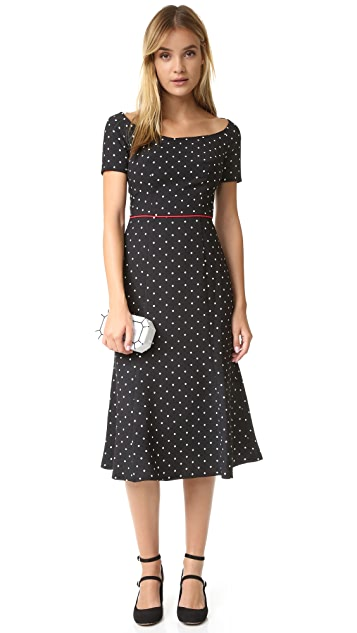 Black Halo Nella Polka Dot Dress