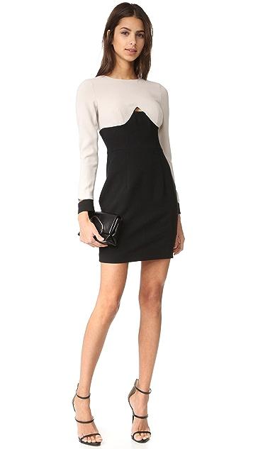 Black Halo Pia Colorblock Mini Dress