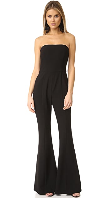 Black Halo Miller Strapless Jumpsuit