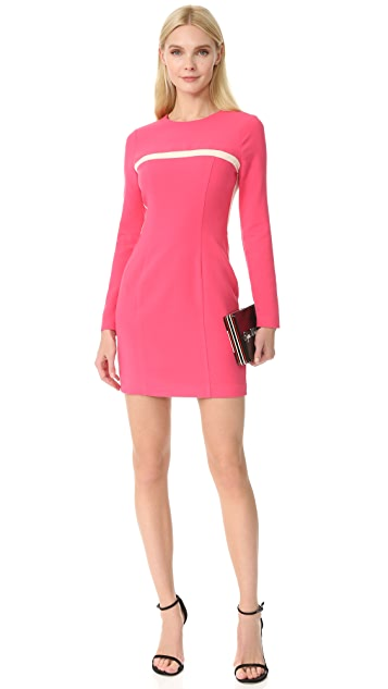 Black Halo Perkin Colorblock Mini Dress