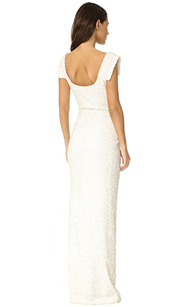 Black Halo Jackie O Anniversary Collection Slit Gown
