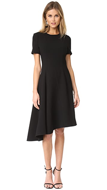Black Halo Olcay Asymmetrical Dress - Black