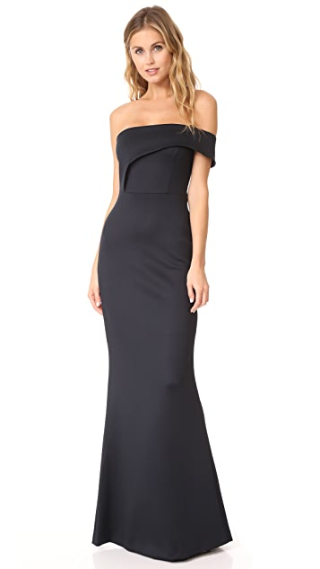 401ec035245a Black Halo Off Shoulder Gown ...