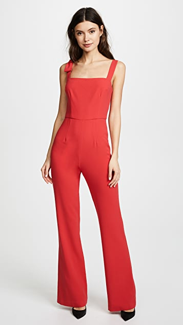 Black Halo Dana Jumpsuit - Chic Red