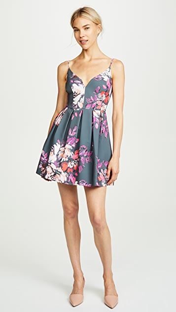 Black Halo Sunrise Mini Dress