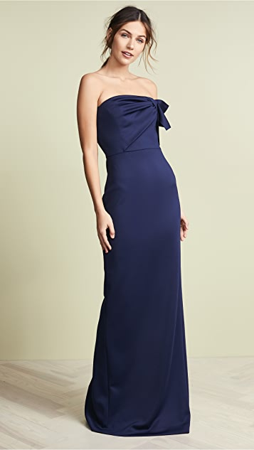 Black Halo Divina Gown - Pacific Blue