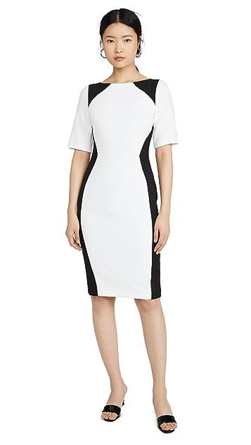 Black Halo Wolfe Colorblock Sheath Dress
