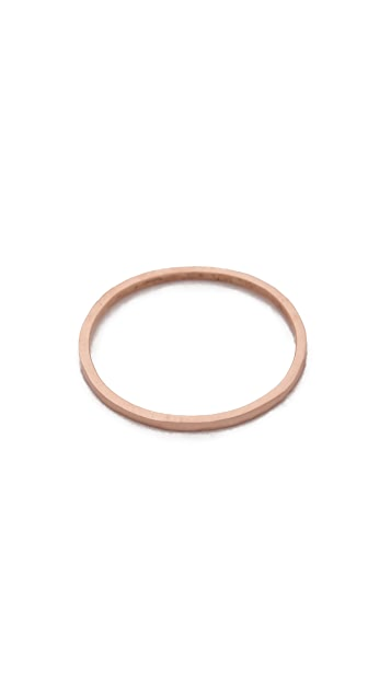 blanca monros gomez 14k Gold Thin Stacking Band Ring