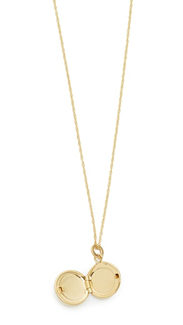 blanca monros gomez 14k Gold Keepsake Locket Necklace