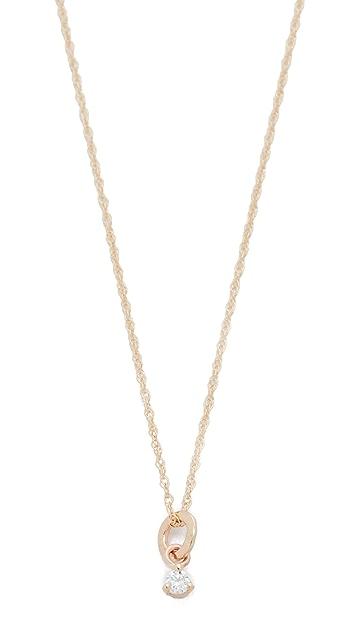 blanca monros gomez 14k Gold Tiny Diamond Necklace