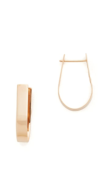 blanca monros gomez 14k Gold Thick Hoop Earrings