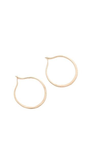 blanca monros gomez 14k Gold Mini Hammered Hoop Earrings